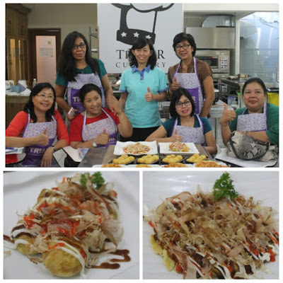Kursus Tristar – Peserta Kursus Bank BCA Bali (4) : Pelatihan Takoyaki & Okonomiyaki