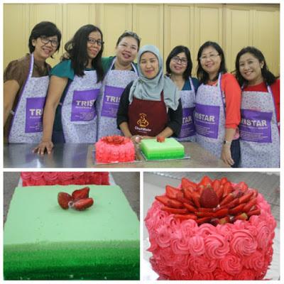 Kursus Tristar – Peserta Kursus Bank BCA Bali (3) : Pelatihan Ombre Cake Panggang & Kukus